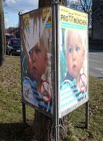 Pro-München-Plakatständer