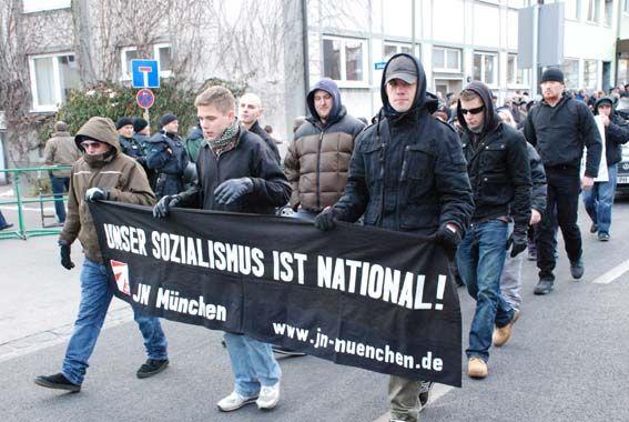 Neonazi-Aufmarsch in Landsberg am 29.11.08