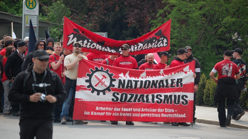Neonazi-Demo am 1. Mai 2009 in Weiden (Foto: Jan Nowak)