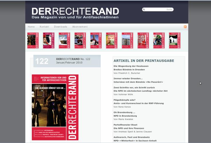 Neue Website des Magazins DRR
