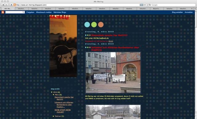 Screenshot der Homepage der AN-Mering