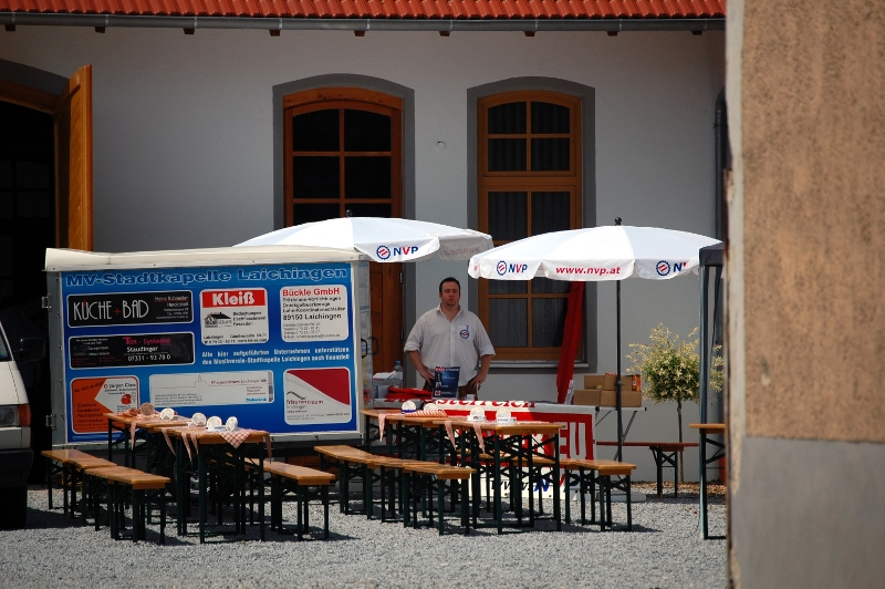 Robert Faller und der NVP-Stand beim Bayerntag  Foto: Jan Nowak