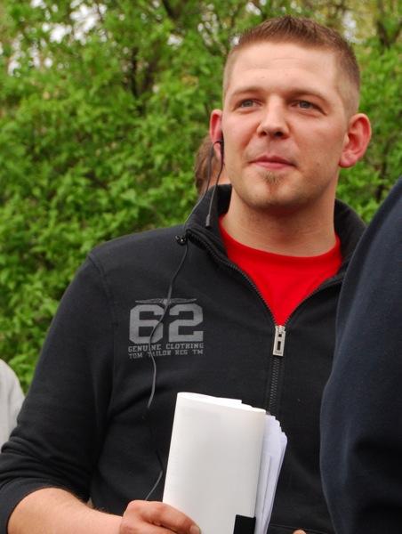 Tony Gentsch am 1. Mai 2010 in Schweinfurt.  Bild: Robert Andreasch