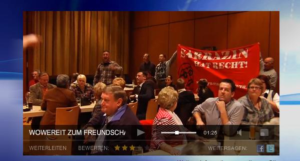 Neonazis stören die Veranstaltung. Screenshot von der website www.oberpfalz.tv