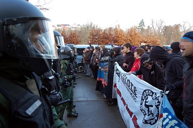 Erfolgreiche antifaschistische Blockade. Bild: Jan Nowak