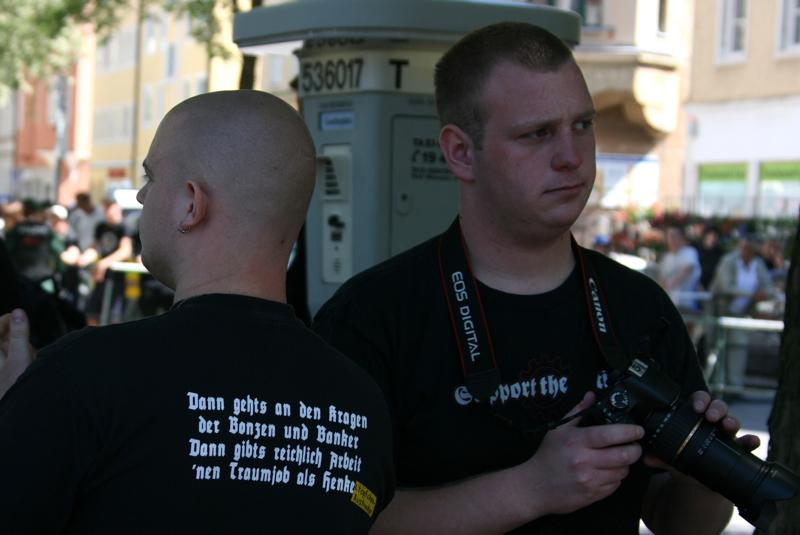 Stefan Friedmann bei der Anti-Antifa-Arbeit.  Foto: Robert Andreasch