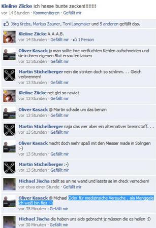 Die Mordphantasien des Kreisvorsitzenden der NPD Cham-Schwandorf, Oliver Kasack