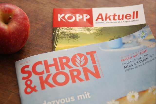 Werbe-Beilage des 'Kopp-Verlags' in 'Schrot und Korn'. Foto: a.i.d.a.