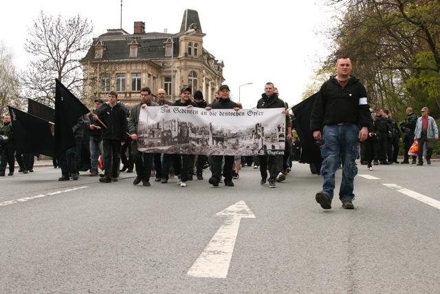 Aufmarsch in Plauen. Foto: Robert Andreasch
