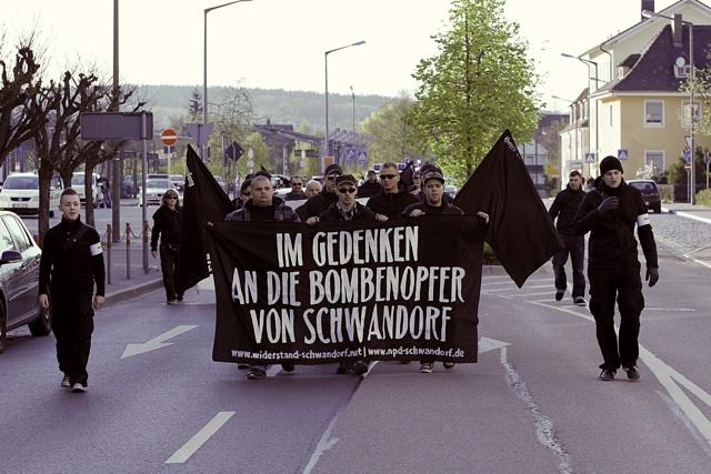 Aufmarsch in Schwandorf. Foto: Jan Nowak