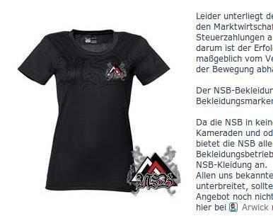 Der 'NSB-Bekleidungsbereich'.  Screenshot: a.i.d.a.