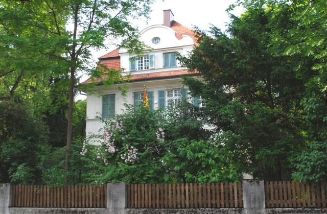 Die Villa der Burschenschaft Cimbria in München-Bogenhausen. Foto: Robert Andreasch