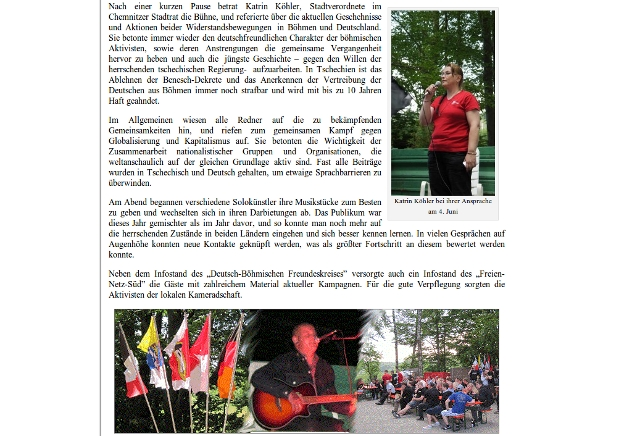 Bilder vom '2. Tag der Freundschaft', veröffentlicht vom 'Deutsch-Böhmischen Freundeskreis'. Screenshot: a.i.d.a.