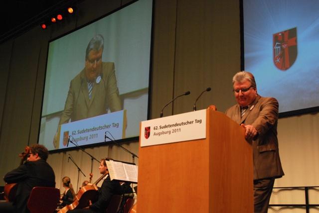 Franz Pany, Bundesvorsitzender der 'Sudetendeutschen Landsmannschaft'.  Foto: Robert Andreasch