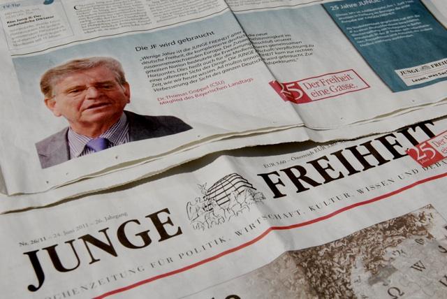 Macht Werbung für die extrem rrechte 'Junge Freiheit': Thomas Goppel, CSU. Foto: a.i.d.a.