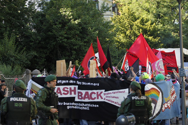 Antifaschistische Demonstration des 'Bash Back'-Bündnisses.  Foto: de.indymedia.org