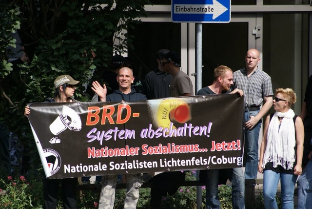 Weiteres Transparent beim 'Aktionstag'.  Foto: a.i.d.a.