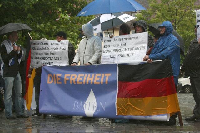 'Kundgebung' der rechtspopulistischen Splitterpartei 'Die Freiheit'. Foto: Robert Andreasch