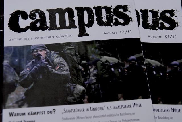 Die neue Ausgabe von 'Campus', der Zeitschrift des studentischen Konvents.  Foto: a.i.d.a.