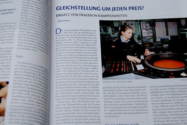 Lehnerts Artikel in der Fachzeitschrift 'Marine-Forum'.  Foto: a.i.d.a.