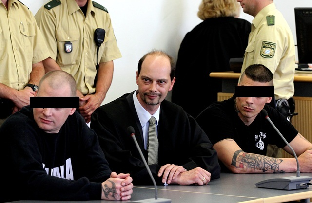 Die Angeklagten Daniel Schm. (r.) und Rainer E. (l.) im Regensburger 'Picasso-Prozess'. Foto: Jan Nowak