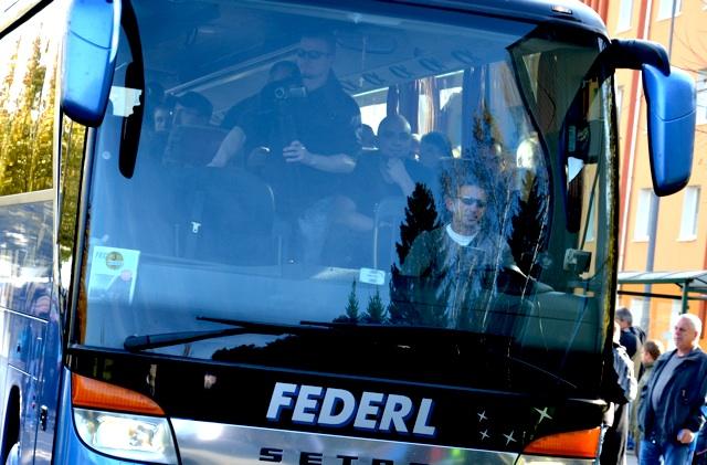 Einer der beiden Reisebusse des 'Freien Netz Süd'.