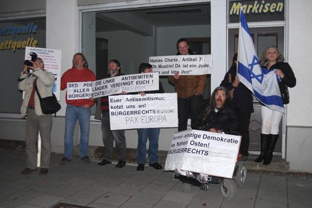 Versammlung der PI- und BPE-Aktivist_innen in der Thalkirchner Straße. Foto: Robert Andreasch
