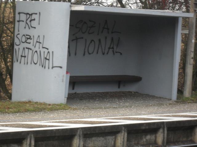 Neonazistische Parolen in Ellingen. Foto: a.i.d.a.