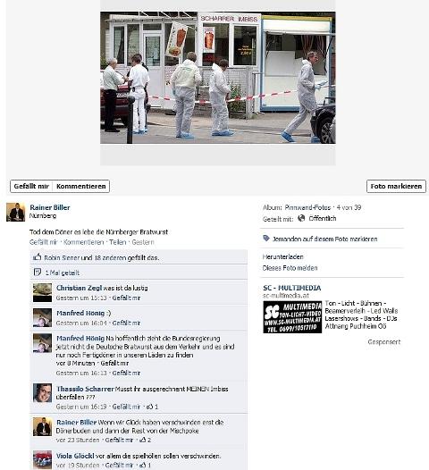 Rainer Billers facebook-Account.  Screenshot: a.i.d.a.
