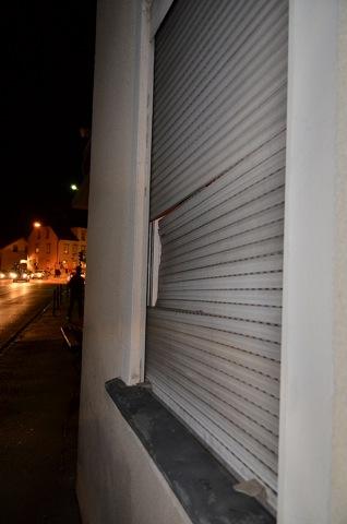 Beschädigungen am JUZ Weißenburg. Foto: Timo Mueller