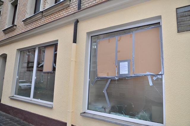Der Infoladen des 'Komm e. V.' nach dem Angriff.  Foto: Timo Mueller