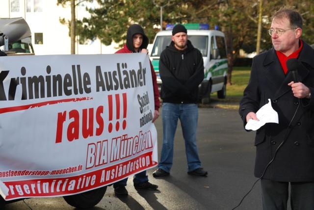 BIA-Stadtrat Karl Richter und Aktivist Sven Grams (v. r.).  Foto: Robert Andreasch