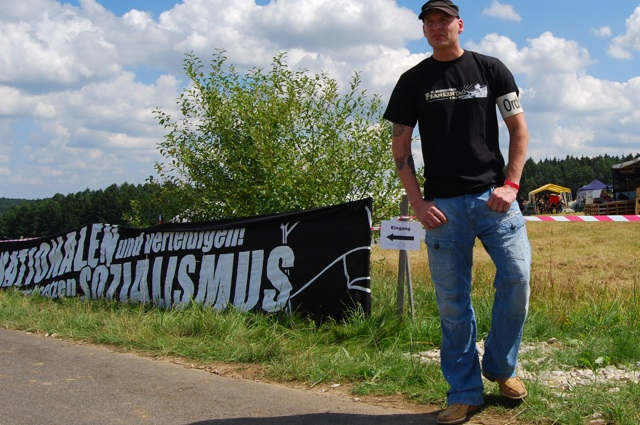 Sascha Rudisch als Ordner beim FNS-'Frankentag' in Geschwand 2010.  Foto: Robert Andreasch