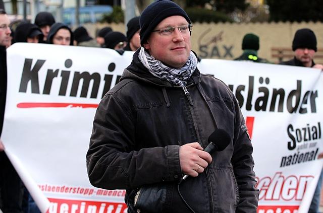 Norman Bordin war auch einer der Anmelder des Neonazi-Aufmarsches in Mühldorf am vergangenen Samstag. Foto: Jan Nowak