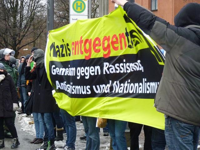 Antifaschistische Proteste gegen den Naziaufmarsch. Foto: a.i.d.a.