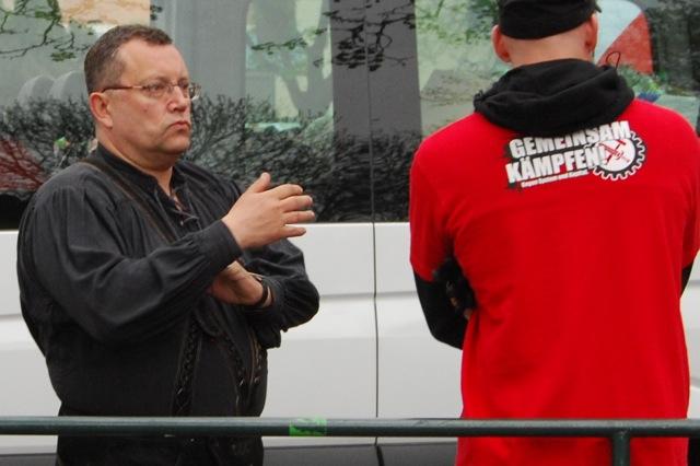 Gottfried Küssel beim FNS-Aufmarsch in Schweinfurt. Foto: Robert Andreasch
