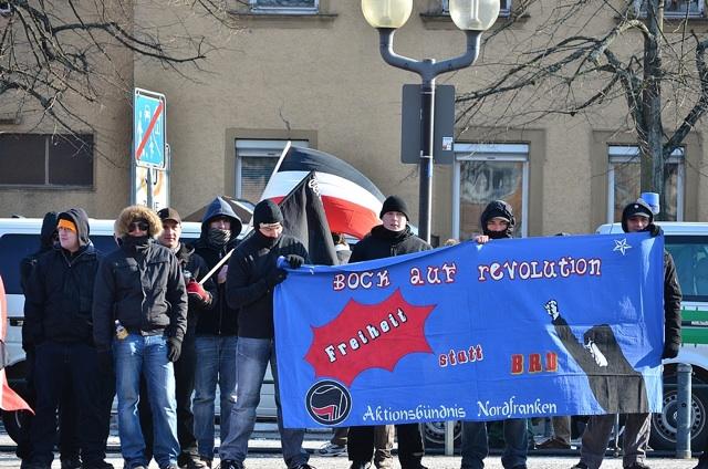 Kundgebung in Forchheim am 11. 02. 2012. Foto: anonym zugesandt, (c) a.i.d.a.