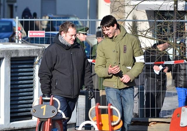 Marcel Maderer (l.) und Sven Diem (r.) in Forchheim.  Foto: anonym zugesandt, (c) a.i.d.a.