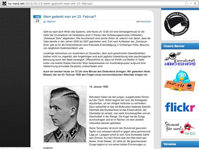 Münchner Neonazis verherrlichen das NS-Idol Horst Wessel. Screenshot: a.i.d.a.