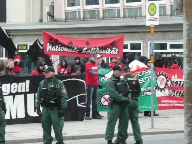 Neonazi-Aufmarsch in Bayreuth. Foto: a.i.d.a.