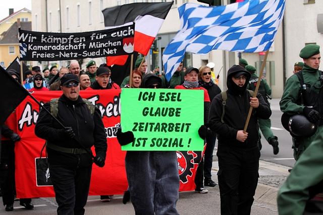 Der Neonazi-Aufmarsch in Schwandorf. Foto: Jan Nowak