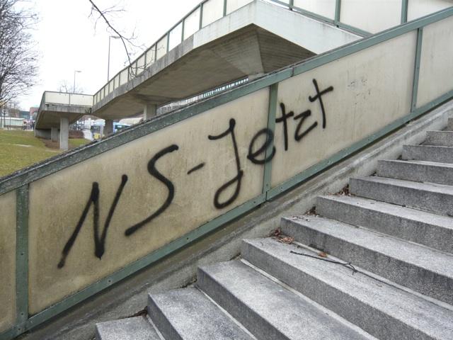 Neonazistische Sprühereien in Neu-Perlach. Foto: a.i.d.a.