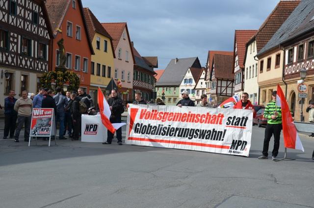 NPD-Kundgebung in Weismain. Foto: LS