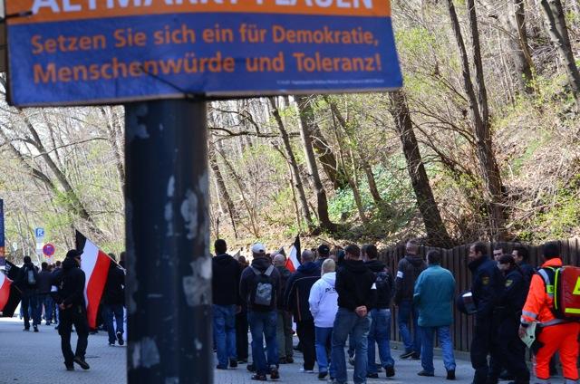 Neonaziaufmarsch in Plauen.  Foto: Lenka Soukupová