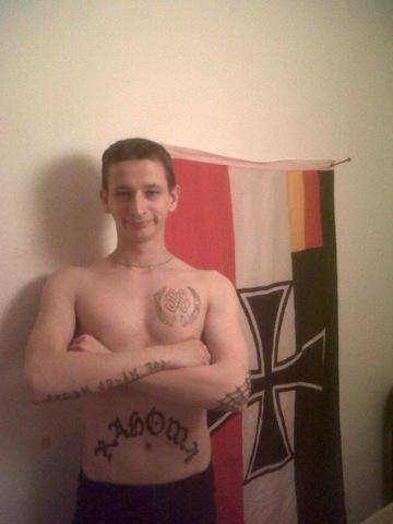 Pavel Szudar von der Prager DM und seine Tattoos.  Foto: www.antifa.cz