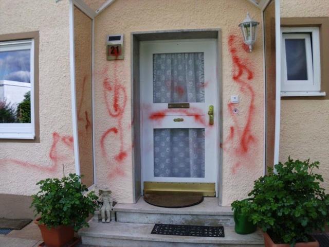 Antiziganistische Attacke in Weißenburg. Foto: Landkreisbündnis gegen rechts Weißenburg-Gunzenhausen.