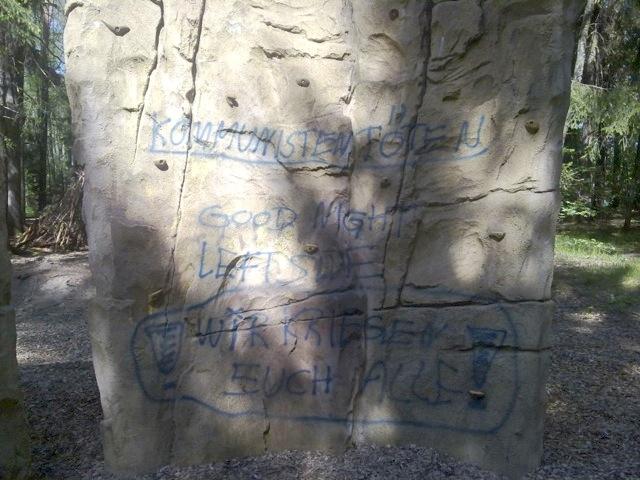 Neonazistische Drohungen, gesprüht in Nürnberg.  Foto: a.i.d.a.