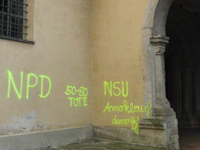 Die neonazistische Drohungen. Foto: linksunten.indymedia.org (CC-Lizenz)