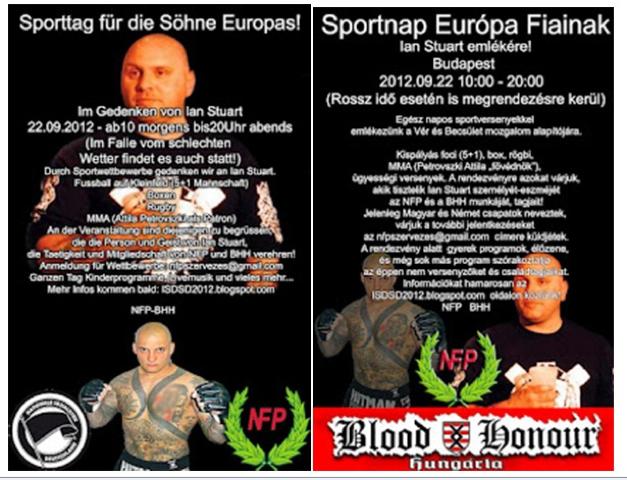 Finde die Unterschiede! Deutscher und ungarischer Flyer für den 'Sporttag'. Repro: a.i.d.a.