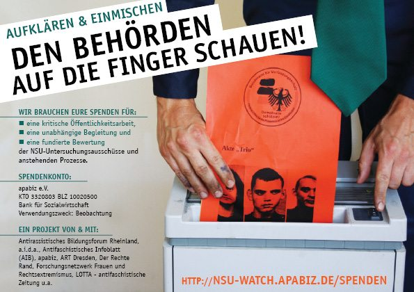 Kampagne Den Behörden auf die Finger schauen